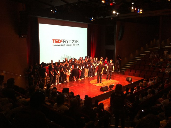 The dozens of volunteers that made TEDx Perth the well-oiled, inspiring and meaningful day it was.